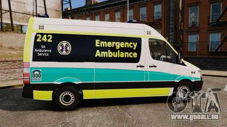 Mercedes-Benz Sprinter Australian Ambulance ELS pour GTA 4 est une gauche