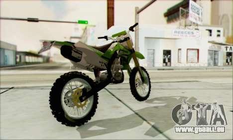 Kawasaki KLX 150 SE für GTA San Andreas linke Ansicht