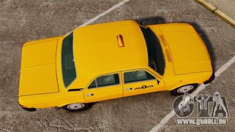 Gaz-31029 taxi pour GTA 4 est un droit