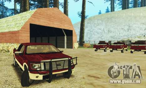 Ford F-150 KING RANCH Edition 2010 pour GTA San Andreas vue arrière