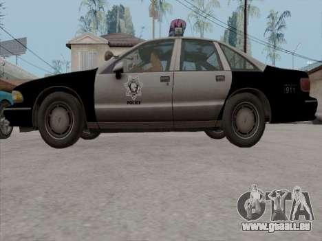 Chevrolet Caprice LVPD 1991 pour GTA San Andreas vue de côté