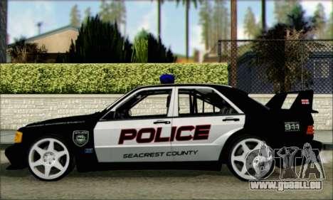 Mercedes-Benz 190E Evolution Police für GTA San Andreas linke Ansicht