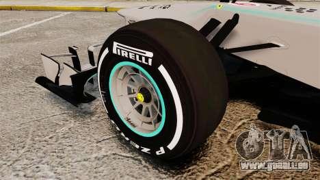 Mercedes AMG F1 W04 v5 pour GTA 4 Vue arrière