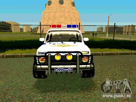 VAZ 212140 Police pour GTA San Andreas vue arrière