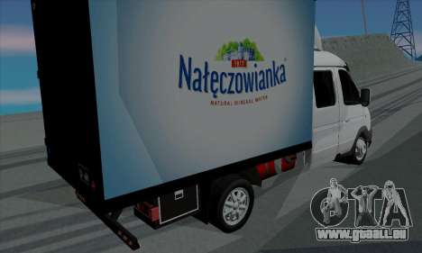 Entreprise Gazelle 33023 pour GTA San Andreas sur la vue arrière gauche