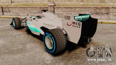 Mercedes AMG F1 W04 v2 pour GTA 4 Vue arrière de la gauche