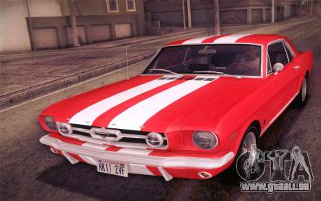 Ford Mustang GT 289 Hardtop Coupe 1965 pour GTA San Andreas roue
