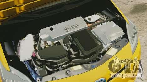 Toyota Prius 2011 Warsaw Taxi v4 pour GTA 4 est une vue de l'intérieur