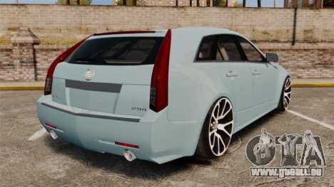 Cadillac CTS SW 2010 für GTA 4 hinten links Ansicht
