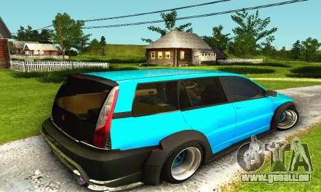 Mitsubishi Evo IX Wagon S-Tuning pour GTA San Andreas vue arrière
