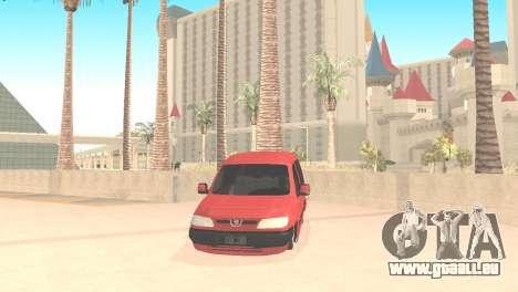 Peugeot Partner für GTA San Andreas rechten Ansicht