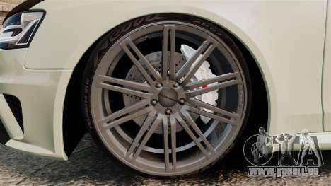 Audi RS4 Avant VVS-CV4 2013 pour GTA 4 Vue arrière