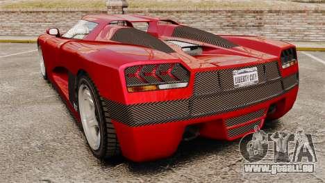 GTA V Overflod Entity XF pour GTA 4 Vue arrière de la gauche