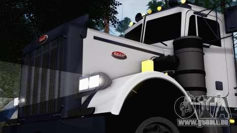 Peterbilt 379 Papa Clyde pour GTA San Andreas sur la vue arrière gauche