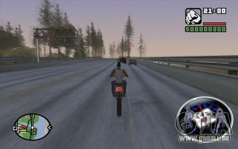 Velocimetro DC Shoes für GTA San Andreas fünften Screenshot