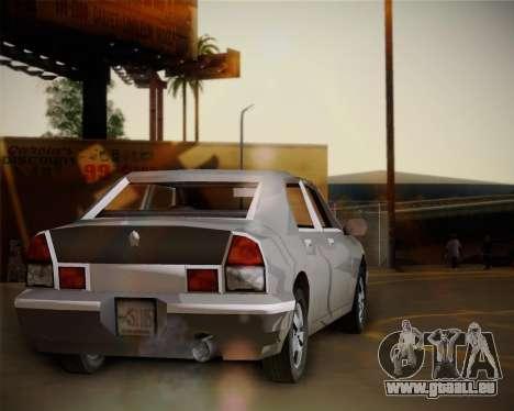 GTA III Kuruma pour GTA San Andreas sur la vue arrière gauche
