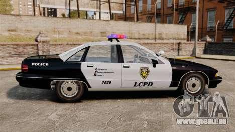 Chevrolet Caprice Police 1991 v2.0 LCPD für GTA 4 linke Ansicht