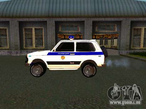 VAZ 212140 Police pour GTA San Andreas vue de droite