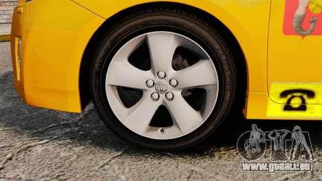 Toyota Prius 2011 Warsaw Taxi v1 für GTA 4 Rückansicht