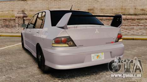 Mitsubitsi Lancer MR Evolution VIII 2004 Stock für GTA 4 hinten links Ansicht
