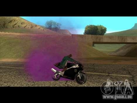 Die neue Farbe der Rauch unter die Räder für GTA San Andreas dritten Screenshot