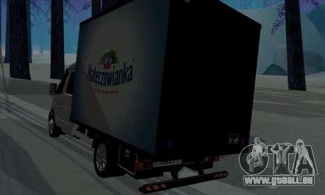 Entreprise Gazelle 33023 pour GTA San Andreas vue de droite