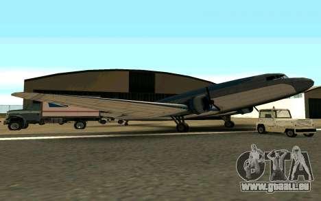 Ein US-Flugzeug für GTA San Andreas linke Ansicht