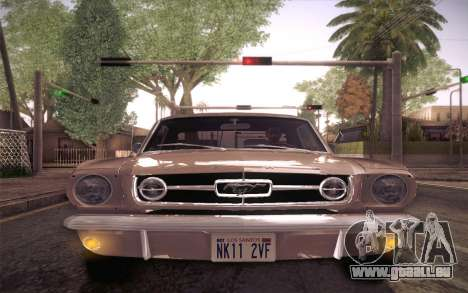 Ford Mustang GT 289 Hardtop Coupe 1965 für GTA San Andreas obere Ansicht