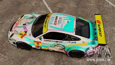 Porsche GT3 RSR 2008 Hatsune Miku für GTA 4 rechte Ansicht