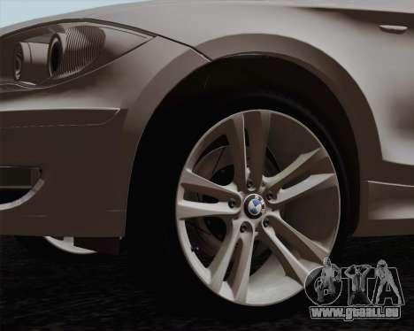 BMW 120i pour GTA San Andreas laissé vue
