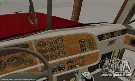 Peterbilt 379 Dump Truck pour GTA San Andreas vue intérieure