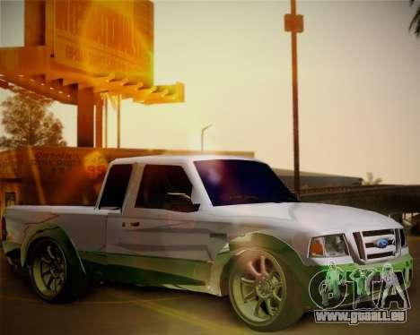 Ford Ranger 2005 pour GTA San Andreas vue intérieure