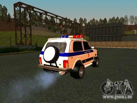 VAZ 212140 Police pour GTA San Andreas vue intérieure