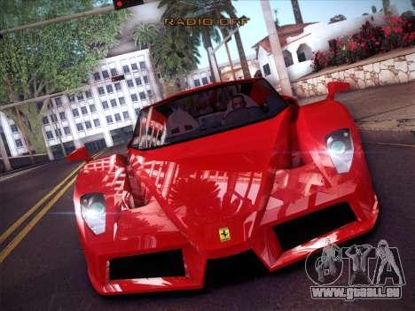 Ferrari Enzo 2003 für GTA San Andreas Innenansicht