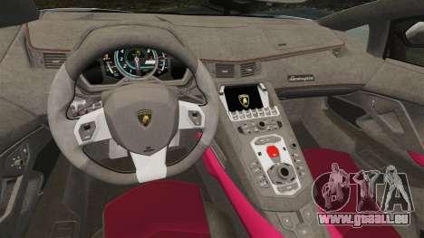 Lamborghini Aventador LP700-4 LE-C 2014 pour GTA 4 est une vue de l'intérieur