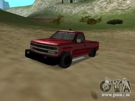 Chevrolet Silverado ATTF pour GTA San Andreas vue intérieure