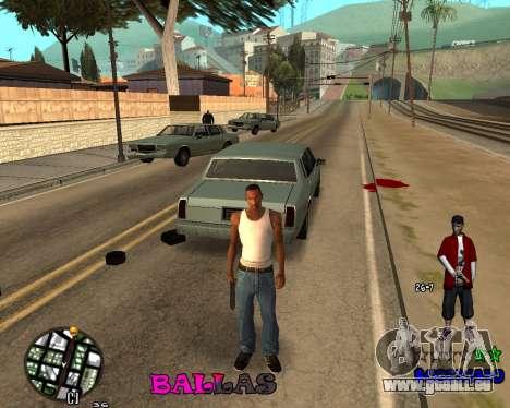HUD The Ballas By Santiago pour GTA San Andreas troisième écran