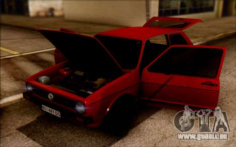 Volkswagen Golf Mk1 TAS pour GTA San Andreas sur la vue arrière gauche