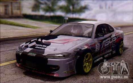 Nissan S15 Asus Team pour GTA San Andreas sur la vue arrière gauche