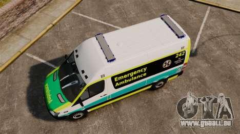 Mercedes-Benz Sprinter Australian Ambulance ELS pour GTA 4 est un droit