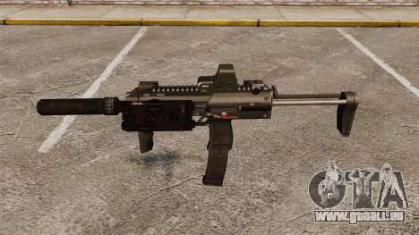 HK MP7 Maschinenpistole Sopmod für GTA 4 dritte Screenshot