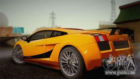 Lamborghini Gallardo Superleggera pour GTA San Andreas vue de dessus