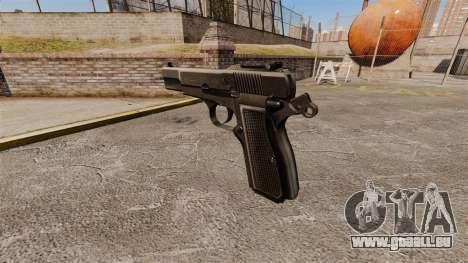 Ladewagen Pistole Browning Hi-Power für GTA 4 Sekunden Bildschirm