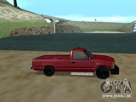 Chevrolet Silverado ATTF pour GTA San Andreas laissé vue