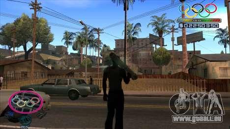 HUD Olympiade pour GTA San Andreas deuxième écran