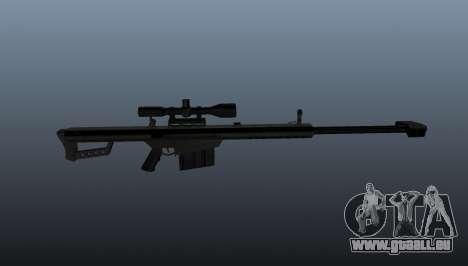 50 sniper rifle calibre pour GTA 4 troisième écran