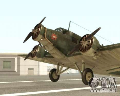 Junkers Ju-52 pour GTA San Andreas