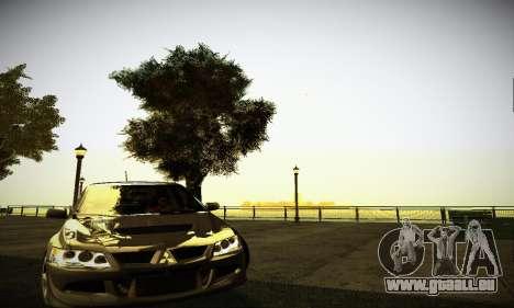 Mitsubishi Lancer Evo IX pour GTA San Andreas laissé vue