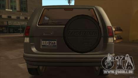 Landstalker HD from GTA 3 pour GTA San Andreas vue de droite