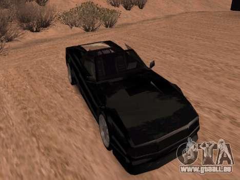 Sheetah Restyle für GTA San Andreas zurück linke Ansicht
